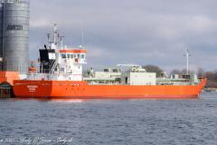 NORDEN - IMO 9851775 losser i Korsør d. 4. marts 2021