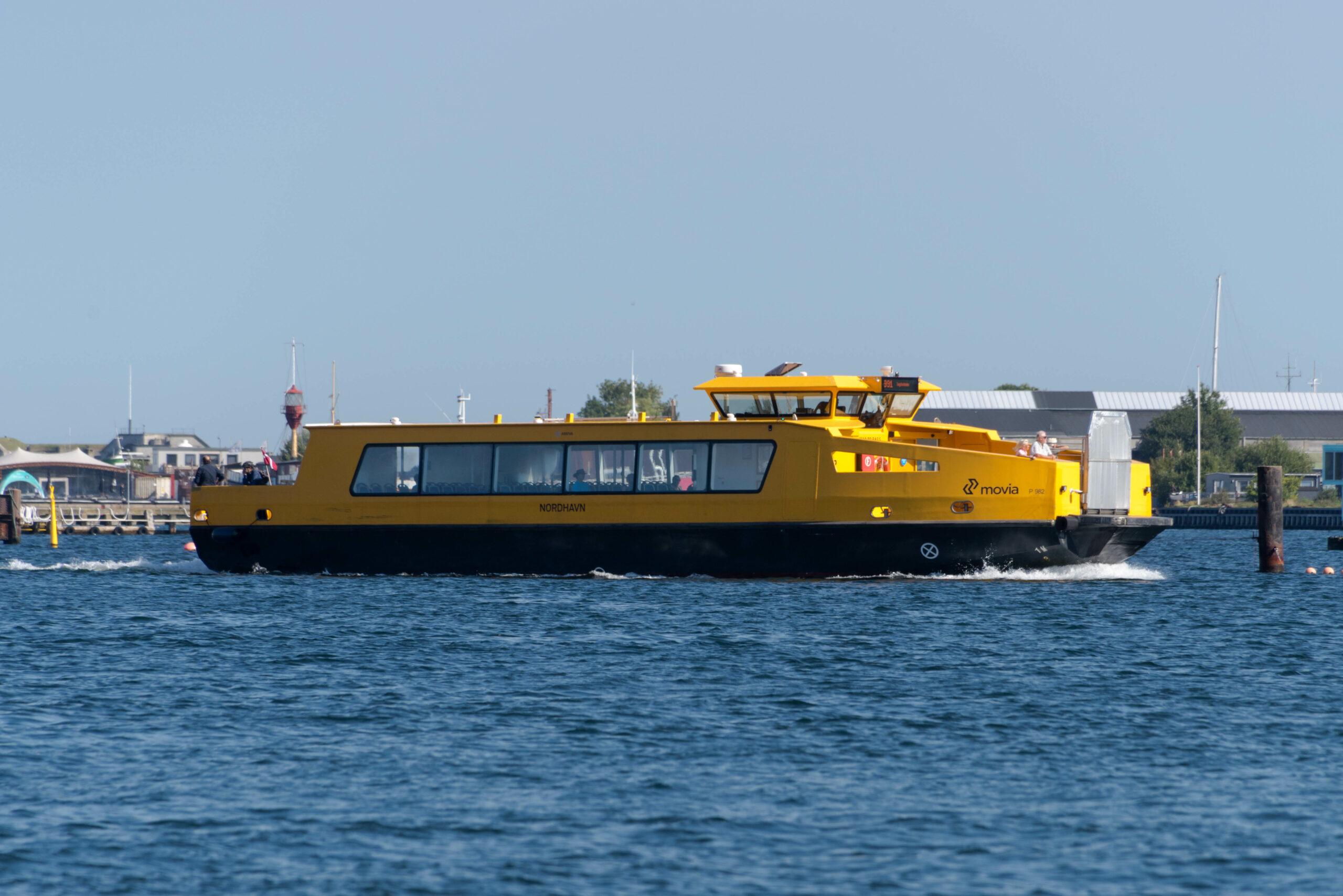 Havnebussen Nordhavn P 982 i Københavns Havn