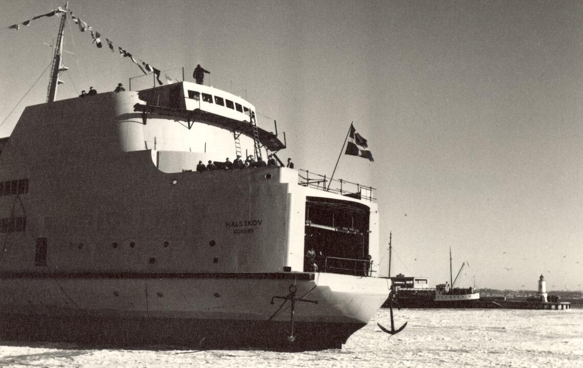 3. februar 1956: Søsætning af M/S HALSSKOV af Korsør.